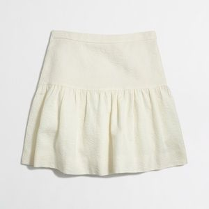 J.Crew • Mini Skirt Jacquard Flare in Floral Ivory